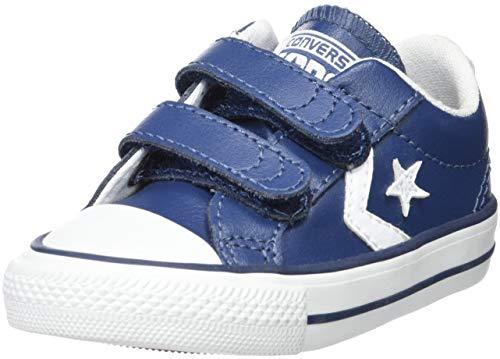 Converse Lifestyle Star Plyr 2V Ox, Zapatillas Infantil, Azul (Navy/White 412), 22 EU