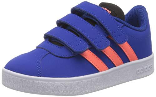 adidas VL Court 2.0 CMF C, Zapatillas de Gimnasio Unisex Niños, Team Royal Blue/Signal Coral/Core Black, 34 EU