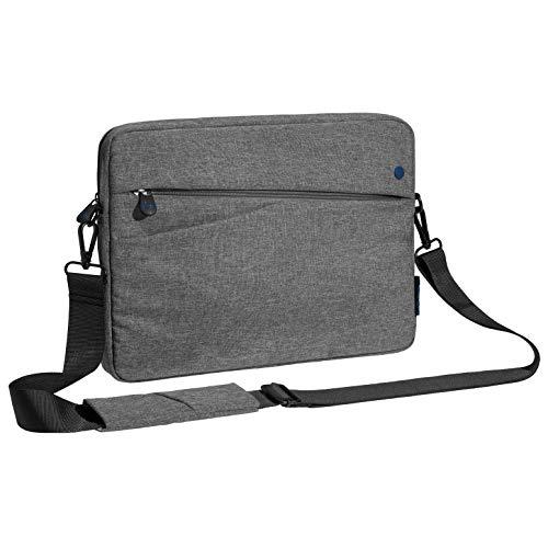 Pedea Tablet PC Tasche Fashion für 12,9 Zoll (32,8 cm) Tablet Schutzhülle mit Zubehörfach & Schultergurt, grau/blau