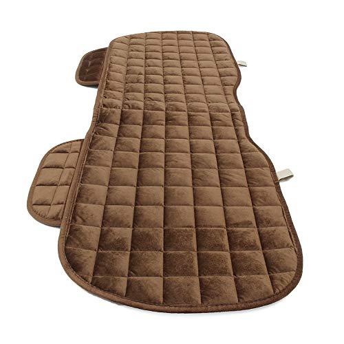 Taosheng Schutzmatte Stuhlkissen Atmungsaktiv Komfort Autositz Pad für Haustier Universal Waschbar Auto Sitzbezug Auto Rücksitzschutz Matte für Haustier Kinder Hunde (Kaffeefarben)