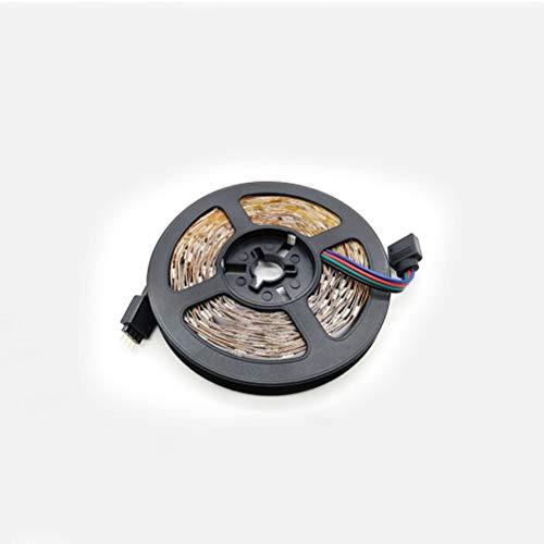 DZHT Luz LED Bluetooth Con Cinta Flexible RGB 5050 SMD 2835 Luz LED Fita Con Diodo De Cinta RGB 5M 10M 15M DC12V 60LED / M + Adaptador (Color : RGB 2835 60 lights 1M)