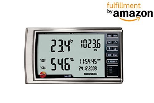Testo 622 Hygrometer und Barometer für HLK, Laboratorien, Industrie, Büro zusammen mit Kalibrierungszertifikat von instrukart