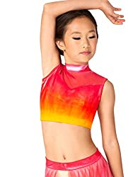 Watercolour Girls Hand Painted Tank Dance Crop Top WC236C