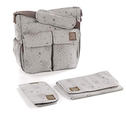 Jané 080182 T80 Wickeltasche für Buggy, universal, viel Stauraum, inklusive Wickelunterlage und Tasche für Dokumente, beige