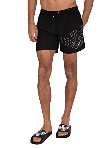Emporio Armani Swimwear Boxer Beachwear Silver Eagle Zwembroek