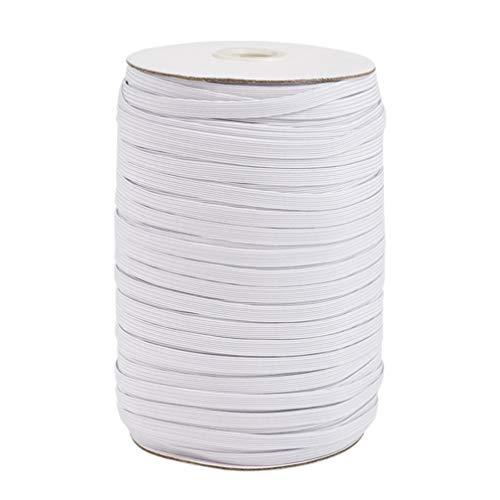 Exceart 182 m elastisch spoel band rubberen koord breed plat koord spoel naaibanden DIY naaien knutselaccessoires voor…