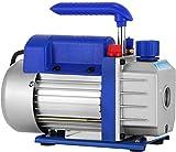 Mophorn Pompe à Vide 3CFM 1 / 3HP Réfrigérante HVAC Climatiseur à une étape 85 L/min Pompe à Vide à Palettes Rotative Pompe d'évacuation sous vide A/C