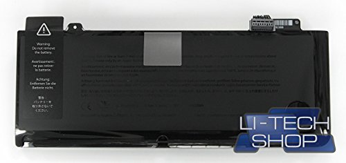 LI-TECH Batería para Apple MacBook PRO 8.1 13.3 pulgadas 2011 Aluminum Unibody MC724 Negro