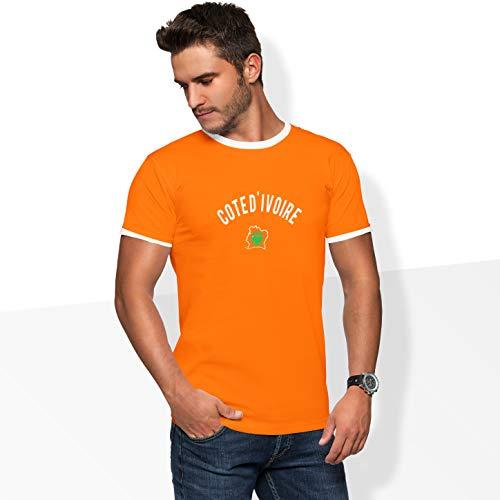 World of Football Player Shirt Elfenbeinküste Drogba, orange orange - L