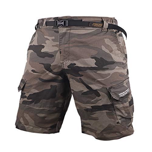 Muscle Alive Herren Cargo Shorts Jahrgang Savage Vintage Kurze Hose Sport Camping Wandern Tarnen Baumwolle 8137 Camo L
