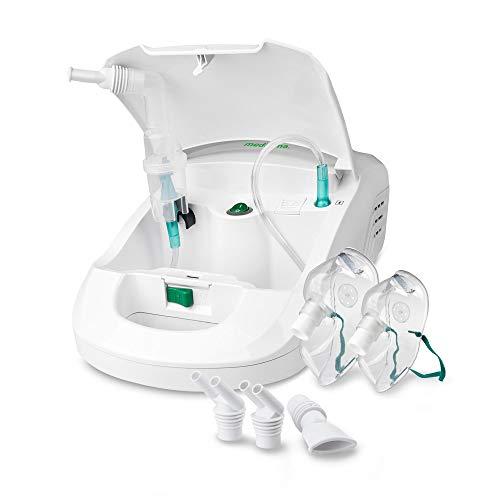 medisana IN 550 Inhalator, Kompressor Vernebler mit Mundstück und Maske für Erwachsene und Kinder, bei Erkältungen oder Asthma mit extra viel Zubehör, langem Schlauch und Zubehörfach