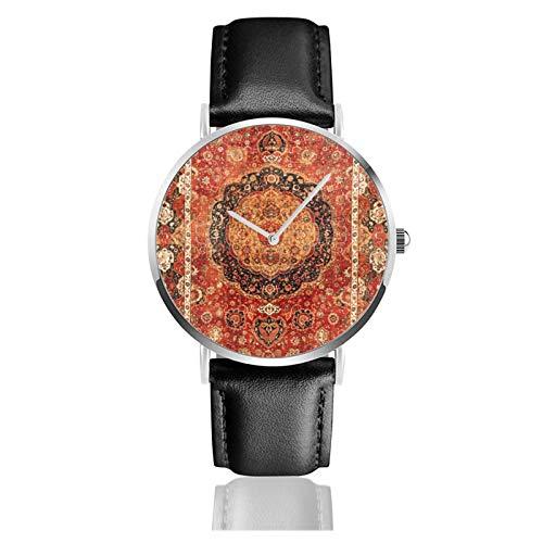 Seley th Century antiguo persa alfombra reloj de cuarzo movimiento impermeable correa...