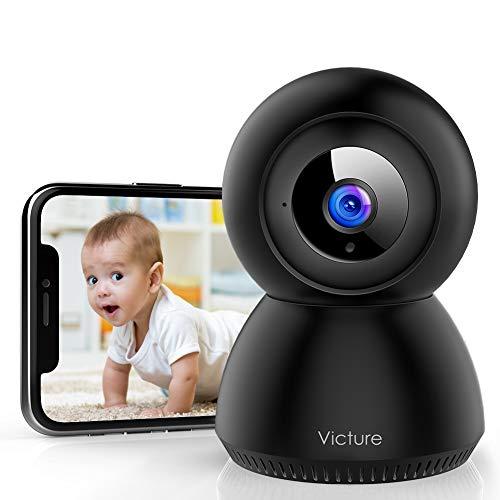 Victure 1080P Cámara IP WiFi,Cámara de Vigilancia FHD con Visión Nocturna,Detección de Movimiento,Audio bidireccional, 2.4GHz WiFi,Compatible con iOS/Android