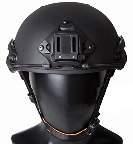 TMC Airsoft AF Ops Tactical Helmet Black AIRFRAMES Rail