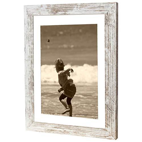 Bilderrahmen Fotorahmen 28x35 cm Vintage bilderrahmen zum aufhängen MDF Picture Frames Farbe und 40 Verschiedene Größen wählbar ohne Passepartout Rahmen Ayleen