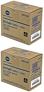 A5X0130 Genuine Konica Minolta Black Toner Cartridge 2 Pack, TNP48K, 10000 Page-Yield Per Ctg, Black
