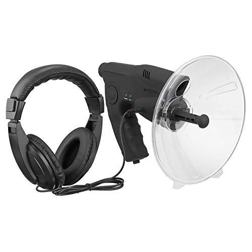 Hmpet Micrófono parabólico Bionic Ear Spy Ear Dispositivo de Escucha biónico Registro de observación de la Naturaleza para Dispositivo de Escucha de Largo Alcance hasta monocular de Aumento 8X