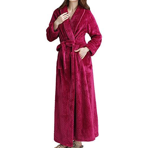 GODGETS Hombre Señoras Robe Luxury Franela ata Albornoz Mujeres Altamente Absorbente Mujeres con Capucha y Shawl Towel baño Abrigo