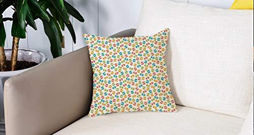 Pillow Case Cojín Cuadrado Print,Bebé, patrón de huellas de recién nacido colorido...