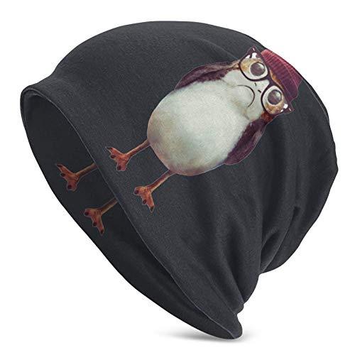 IUBBKI Linda porg con gafas para mantener el calor en otoño e invierno gorro de punto adulto