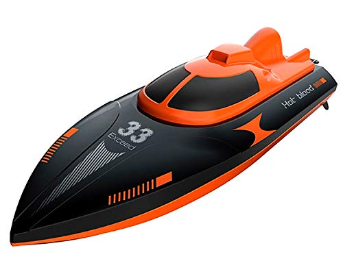 POCO DIVO Exceed-33 RC Racing Boat 20kmph Q2 Genius High Speed Yacht Capsize Recovery Outdoor Pool Lake Electric Watercraft 2.4Ghz Trigger Remote Controlled for Kids & Adults