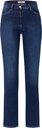 BRAX Damen BX_Carola Straight Leg Jeans, Blau (Used Regular Blue 25), W31/L34 (Herstellergröße: 40L)
