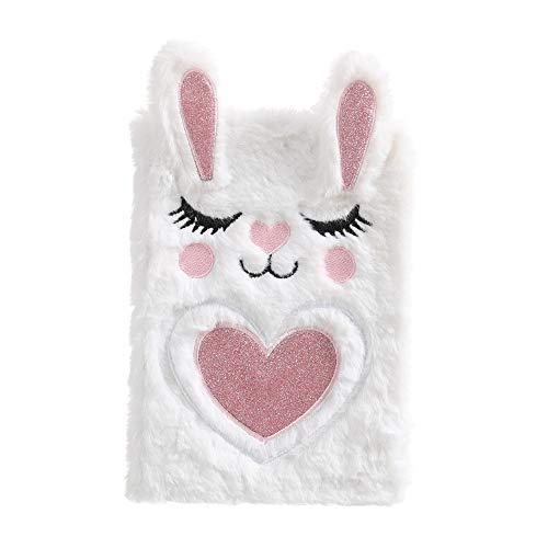 Dodheah Journal Intime Fille Carnet Secret Fille Cahier Licorne Agenda Fille Cadeau d'anniversaire pour Filles,Enfants Lapin Blanc