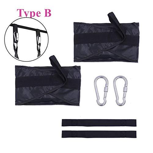 AZI Sling Straps Hanging Gymnastikbänder für Fitness Expander Klimmzugstange Muskeltraining Bauchmuskeltraining Suspension Übungsgerät Typ B