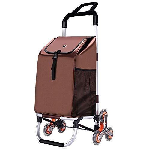 Lwieui Einkaufswagen Faltbarer Einkaufswagen mit leichtem Edelstahlrahmen Faltbarer Einkaufswagen mit leisen Dreirädern Mikrofaser-Shopping Trolley (Farbe : A, Größe : 84x45x39cm)