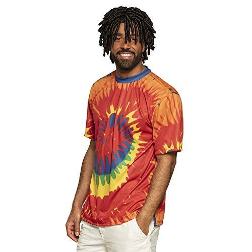 Boland - Shirt Rasta, verschiedene Größen für Herren, Batik, Muster, T-Shirt, Oberteil, Hemd, Rastafari, Festival, Kostüm, Mottoparty, Karneval, Alltag, Urlaub, Jamaika