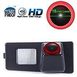 Impermeable visión Nocturna Cámara de Marcha atrás HD 720P Cámara de Aparcamiento per Ssang Yong Korando/Kyron/Rexton II 2011/Rodius/stavic (No. 01848 with 2 Buttons)