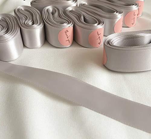 Cintas fiesta de Navidad 40mm satén Envoltura de regalo decoración de un solo lado Rosepink poliéster cinta DIY hecho a mano suministros bloc de notas ( Color : Barbie pink , tamaño : 25mm 6Meters )