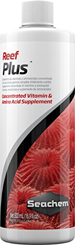 Seachem Reef Plus, Suplemento de Vitaminas y Aminoácidos, 500 ml