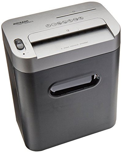 Read About AmazonBasics 8-Sheet High-Security Micro-Cut Paper, CD, and Credit Card Shredder with Pul...