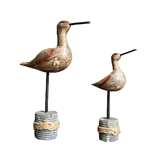PETSOLA 2X Vogel Figuren Holzfiguren Figuren Spielzeug Weihnachten Geburtstagsgeschenk