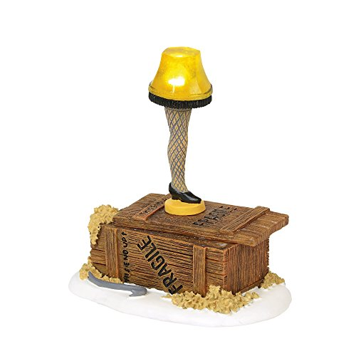 Department 56 Christmas Story Village Leg Lamp Lit Accessory Figurine, Multicolored