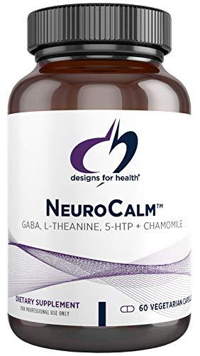 Designs for Health NeuroCalm - GABA (PharmaGABA), L-Theanine, 5-HTP + Chamomile - Calm, Mood + Serotonin Support Supplement - Non-GMO + Soy Free (60 Capsules)