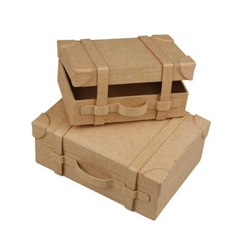 Nostalgie Koffer Set aus Pappmaché, 2 Stück [Spielzeug]