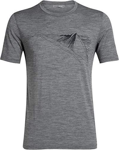 Icebreaker 150 Tech Lite Short Sleeve Crewe Shirt - Bear Lift - Men - Outdoorshirt