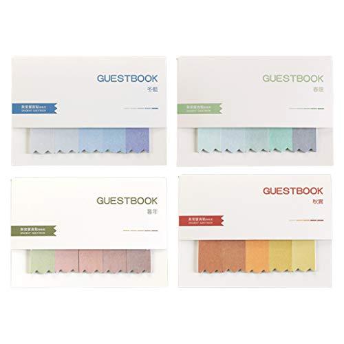 Qirun Bloc de Notas de clasificación de Color Degradado Creativo de 4/7 Piezas, Almohadillas de Escritura de Notas Adhesivas