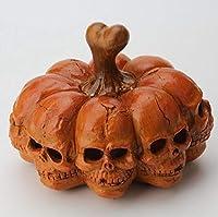 ファセットスカルポータブルカボチャランタンホラーデスクトップスカル装飾ハロウィーンパーティーの装飾