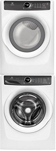 """Electrolux White Front Load Laundry Pair with EFLW427UIW 27"""" Washer, EFME427UIW 27"""" Electric Dryer, and STACKIT7X Stacking Kit"""