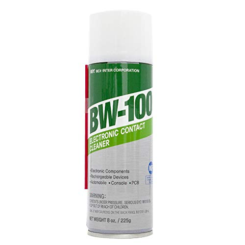 BW-100 Electronic Contact Cleaner Non-Flammable Aerosol Spray - Safely Cleans Joycons, Keyboards, Computers, Rechargeable Devices and More - Removes Dust, Dirt and Other Debris | 8oz/225g