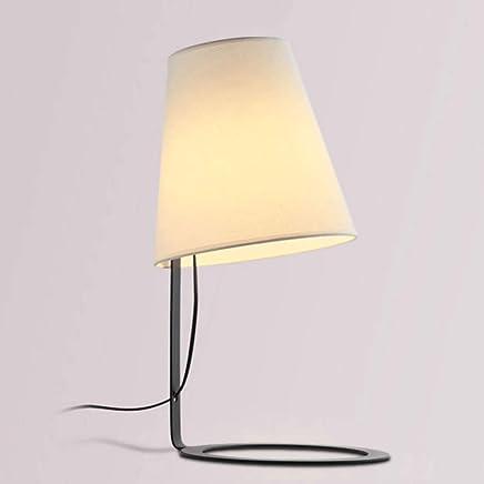 テーブルランプ シンプルな近代的なファブリックの研究読書ランプベッドルームベッドサイドランプ鍛造テーブルランプE27光源* 1 A+