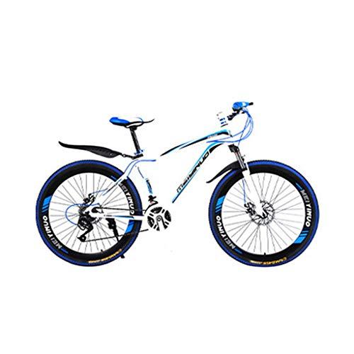 TOPEREUR Fahrrad 26 Zoll Mountainbike 21 Gang-Schaltung, Scheibenbremse vorne und hinten, Vollfederung, Jungen-Mädchen-Fahrrad & Herren-Damen-Fahrrad
