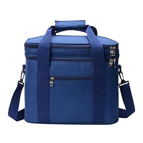 Un Bolso más Fresco, con Aislamiento de Picnic Bolsos Frescos portables Frescos de Cajas para Viajar al Aire Libre, Azul Camping