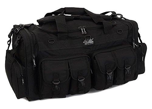 "Nexpak Mens Large 30"" Inch Duffel Military Molle Tactical Cargo Gear Shoulder Bag Black"