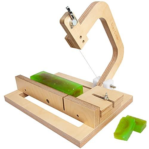 Cortador de jabón de madera, cortador de alambre ajustable, herramienta de corte para hacer velas hechas a mano, cortar queso, herramienta de corte DIY