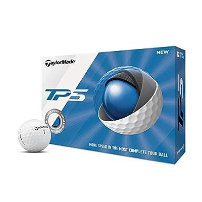 TaylorMade TP5 Golf Balls, White (One Dozen)