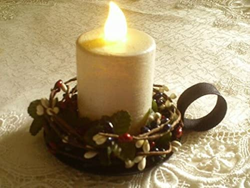 Chicago Mall MIABE Candle Ring Supplies service for Whi White Pillar Timer Red